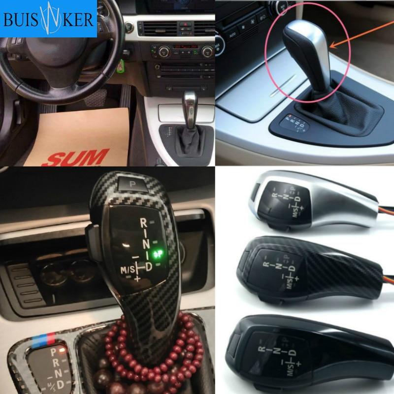 For BMW E46 E39 E60 E90 E92 E82 E87 E38 E84 E83 E53 E86 E89 LED Gear Shift Knob Automatic LHD RHD - Carbon Fiber Color